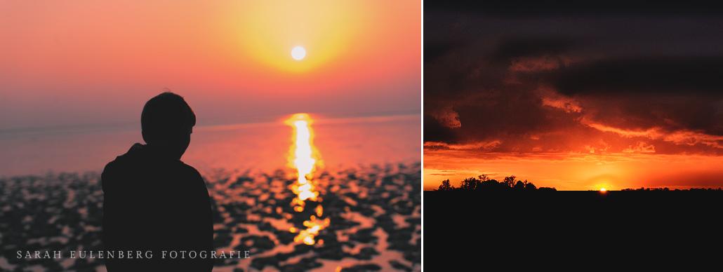 Sonnenuntergang an der Nordsee | Silhouetten Jadebusen