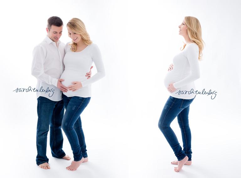 Babybauch Fotoshooting mit dem Partner